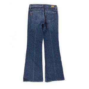 Paige Robertson Flare Blue Jeans Stretch USA